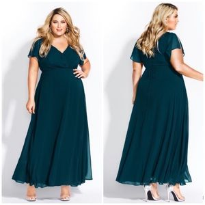 NEW City Chic Sweet Wishes Maxi Dress